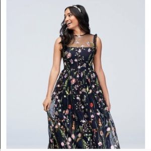 New MORGAN & CO. Formal Maxi Navy Embroidered 7